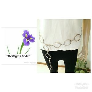 🌸Silver Metal Connected Circles Chain Belt